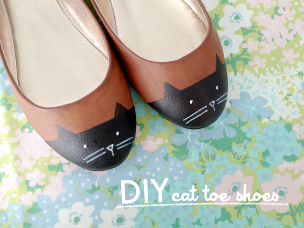 Shoes with cat emoticons