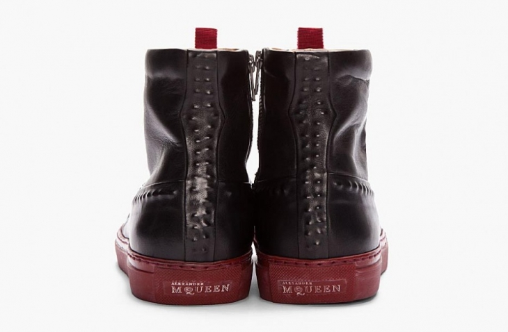 Ботинки Alexander McQueen Black and Burgandy Sole