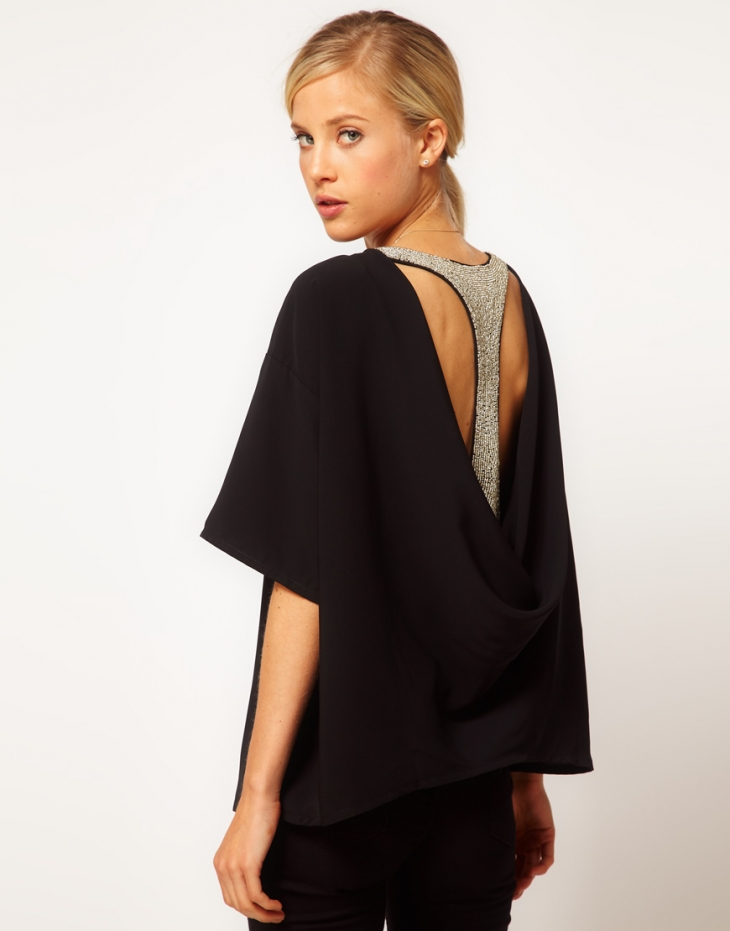 ASOS.  Top With Drape And Embellished Back.  Быстрая покупка.