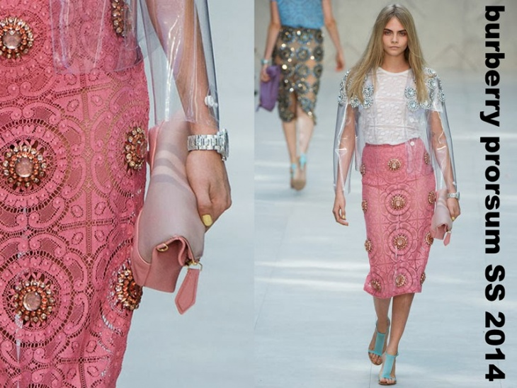 Юбки Burberry Prorsum Summer 2014