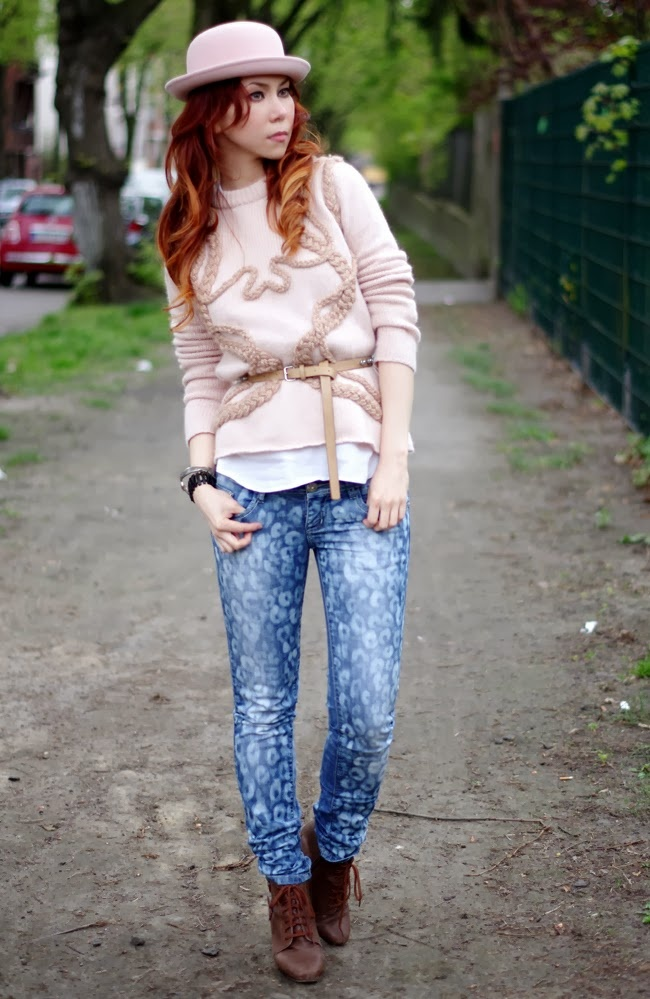 Winter leopard jeans (Diy)