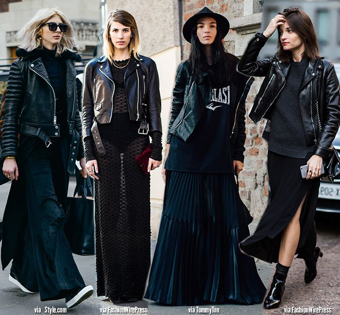Total black street style