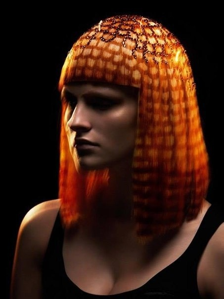 Hairstyles with beads in her hair from ROBERTO PEROZZI