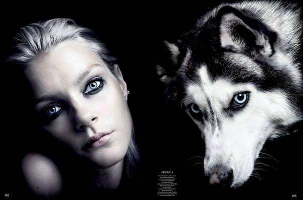 Models Go Twinsies With Cute Canines For Garage Magazine.