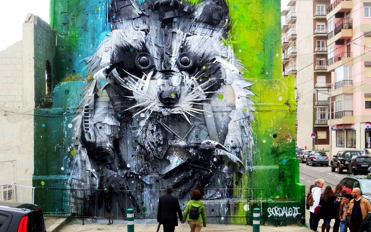 3D стрит-арт Artur Bordalo