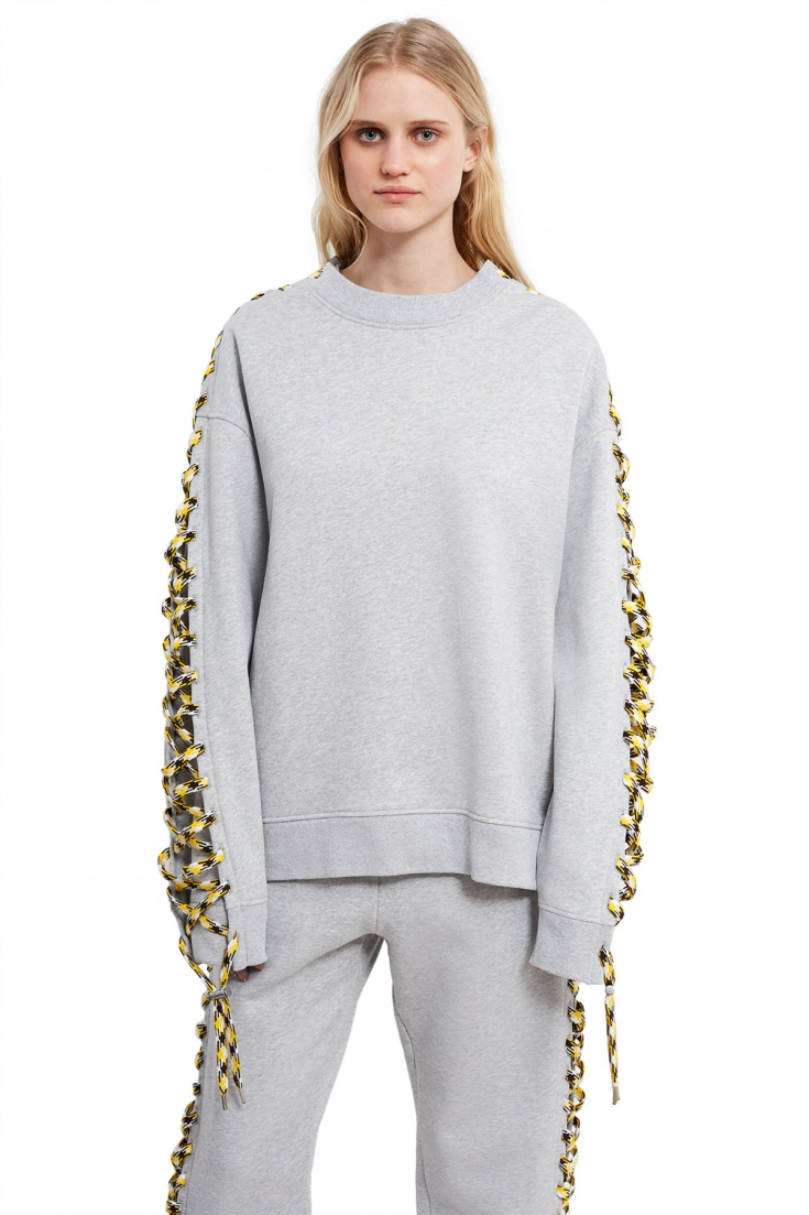 Acne Studios Doris Lace-Up Sleeve Sweatshirt